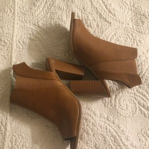 Call It Spring tanned heel sandal.